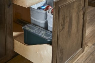 Waste Basket Cabinet with Compost Bin